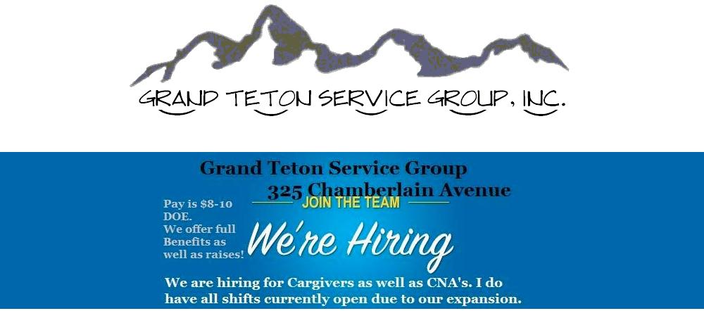 Cna Caregiver Idaho Falls Id Grand Teton Service Group Jobs